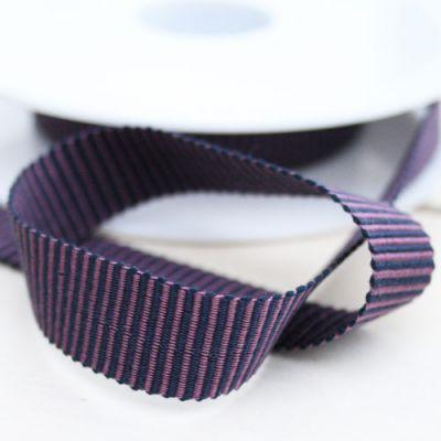Ripsband Filou grau-grau 15 mm breit