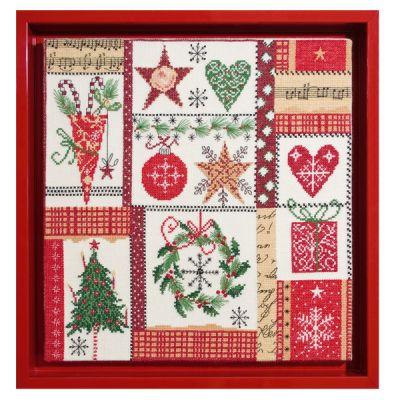 Stickpackung Mustertuch Weihnachtspatchwork
