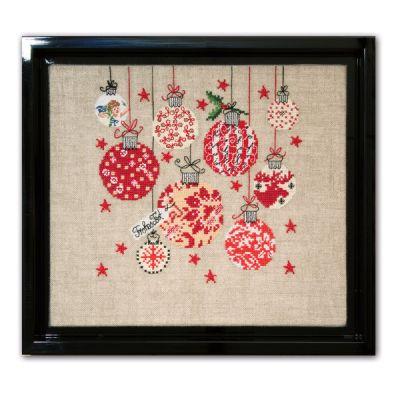 Stickpackung Weihnachtskugeln Mustertuch
