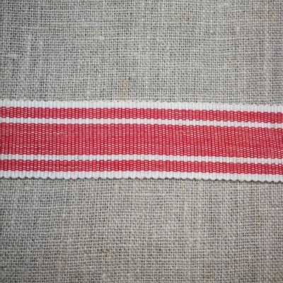 Ripsband Freetime rot-weiß 25 mm