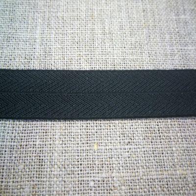 Stretchband Grätenmuster schwarz 16 mm