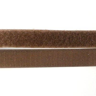 Band Klettverschluss, braun, 20mm