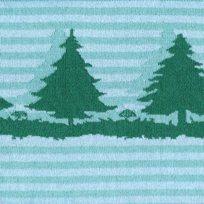 Baumwolljacquard Bäume mint Bordüre 25 cm