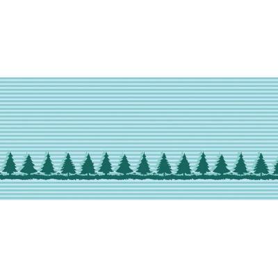 Baumwolljacquard Bäume mint Motivstück 60 cm