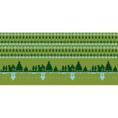 Baumwolljacquard Hänsel & Gretel grün Motivstück 60 cm