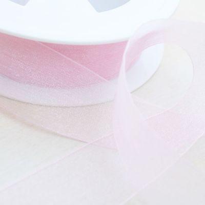 Organzaband Charme rosa 25 mm breit