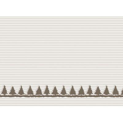 Baumwolljacquard Bäume natur Motivstück 100 cm
