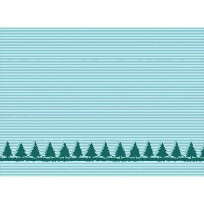 Baumwolljacquard Bäume mint Motivstück 100 cm