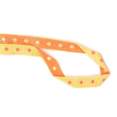 Satinband Pünktchen gelb-orange 5mm