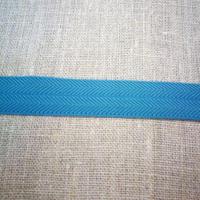 Stretchband Grätenmuster türkis-dunkel 16 mm