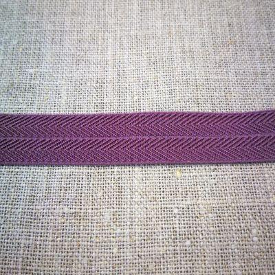 Stretchband Grätenmuster lila 16 mm