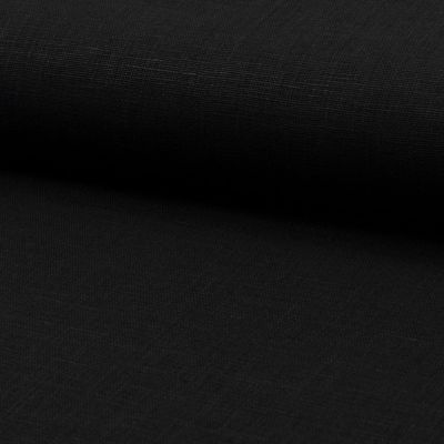 Leinenstoff schwarz