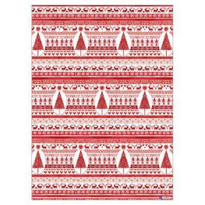 Geschenkpapier-Set Rote Weihnacht