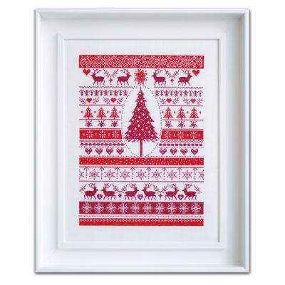Stickpackung Rote Weihnacht