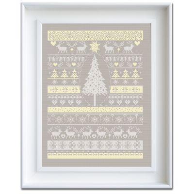 Stickpackung Weiße Weihnacht