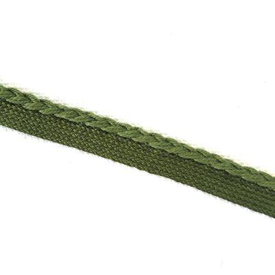 Band mit Geflecht, grün 7mm