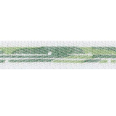 Bedrucktes Band Pinselstrich grün 1cm breit - 35118-02