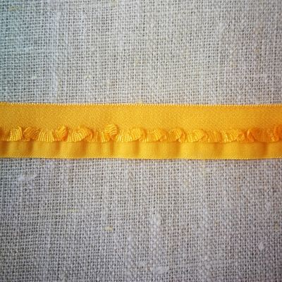 Egle Stretchband m. Ranke 15 mm sonnengelb