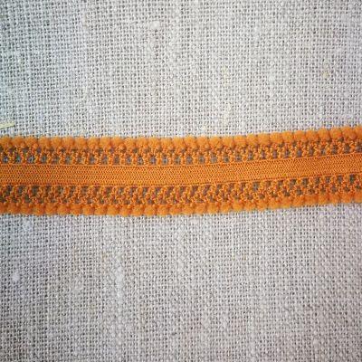 Marte Lochband Stretch 15 mm dunkel orange