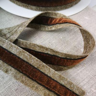 Brunico Wolle/Samt 25 mm natur-braun