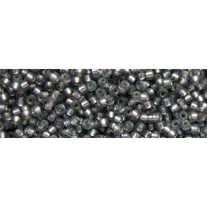 Mini-Perlen matt silbergrau
