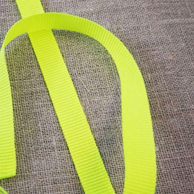 Ripsband GrosGrain neon gelb