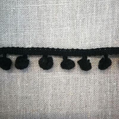 Pomponborte schwarz 7mm