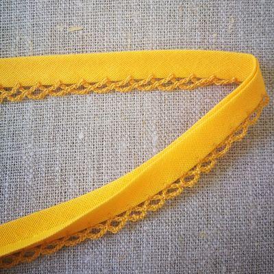 Isotta Band/Spitze 14 mm  gelborange
