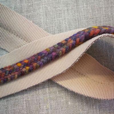 Isabel Zopfband beige/bunt 40mm breit