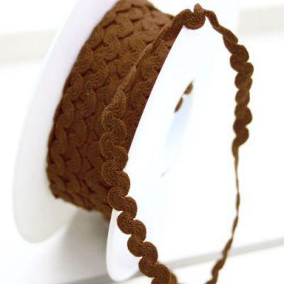 Zackenlitze dunkelbraun 6 mm breit