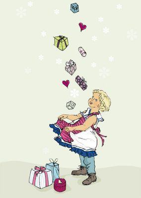 Karten A6 Geschenkeregen für Clara