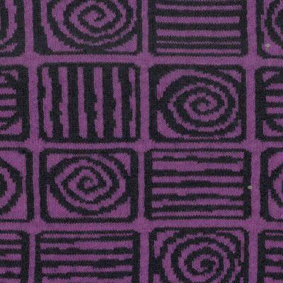 Wolljacquard Karo violett