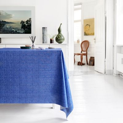 Stoff beschichtet, 135 cm breit, uni azurblau