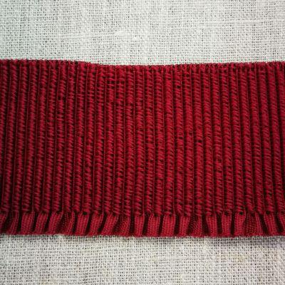 Abschlussbund elastisch 55 mm breit bordeaux