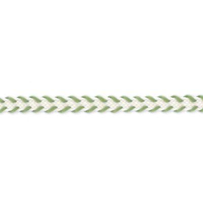Flechtband creme-grün 4 mm