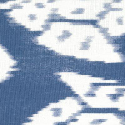 Stoff beschichtet, 135 cm breit, Ornament blau