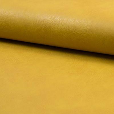 Kunstleder elastisch senfgelb