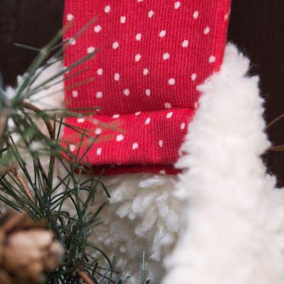 Materialset Nikolausstiefel mit Herzanhänger