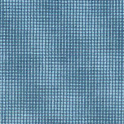 Baumwollstoff klein blau kariert, 150 cm breit