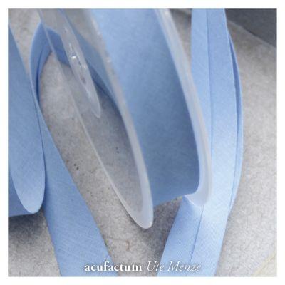 Schrägband uni mittelblau 20 mm breit