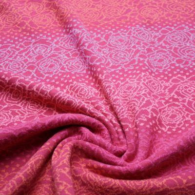 Bw-Jacquard Farbverlauf Rose mit Konfett rot