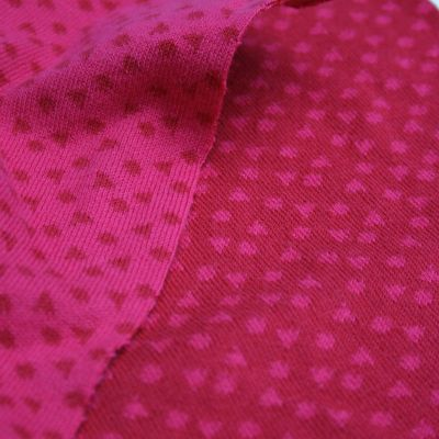 Bw-Jacquard Konfetti all over rot