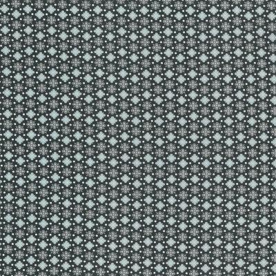 Baumwollstoff Ornamente dunkelgrau-türkis 145 cm breit
