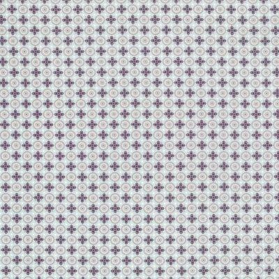 Baumwollstoff Ornamente türkis-beere-ecru 145 cm breit