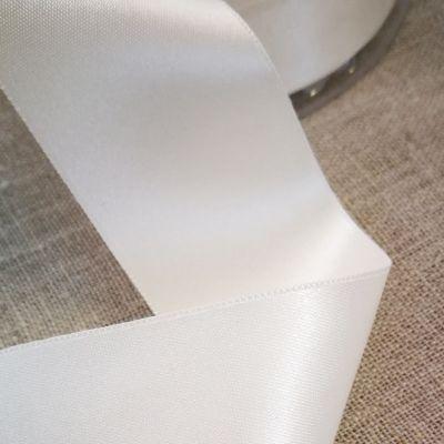 Satinband creme 38 mm breit
