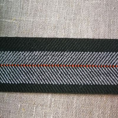 Stretch-Webband Teseo 40 mm schwarz-grau
