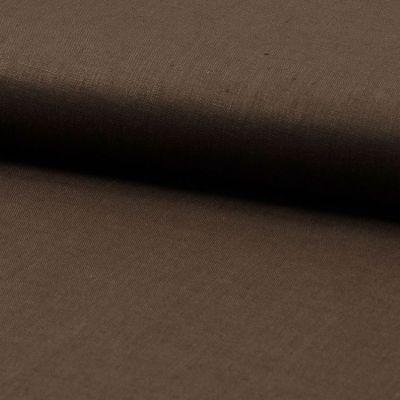 Leinen vorgewaschen 135 cm breit dunkelbraun