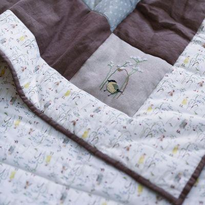 Baumwollstoff Elfen im Wintergras 150 cm breit