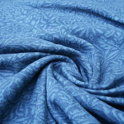 Baumwoll-Jacquard Ornament all over blau