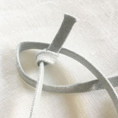 Flachkordel grau 10 mm breit